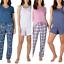 miniatuur 1 - Eddie Bauer 4 Pack Women's Sleep Set Cozy Pajama PJ 2Tops/2 Bottoms 1389329