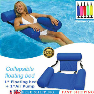 Inflatable-Floating-Water-Hammock-Float-Pool-Loungeed-Swimming-Chair-Summer-SALE