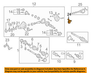 s l300 toyota oem 01 05 rav4 axle differential rear support 5238042050 ebay