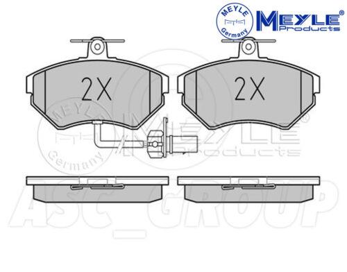 Front Axle With anti-squeak plate 025 219 4519//W Meyle Brake Pad Set