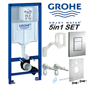 GROHE-RAPID-5in1-CONCEALED-WALL-HUNG-TOILET-CISTERN-WC-FRAME-SKATE-COSMOPOLITAN