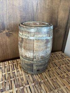 Antique-Powder-Keg-Miniature-Barrel-Gunpowder-Whiskey-Lug-Barrel-8-Cool