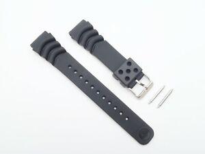 GENUINE Seiko Z20 Watch Strap SBCM029 SBDC005 SKX003P 20mm Black Rubber Band