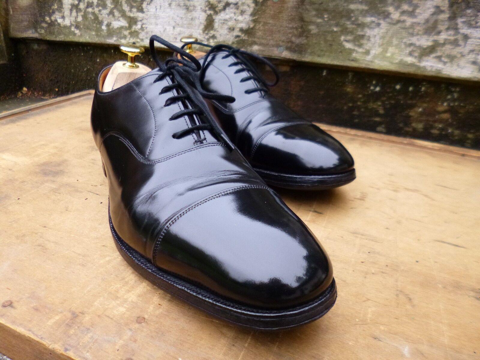 CHURCH VINTAGE OXFORD - BLACK BLACK BLACK – BALMORAL – UK 10.5 (NARROW) –EXCELLENT CONDITION 2f3125