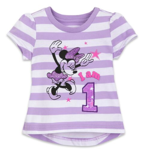 Disney Store Girls Minnie Mouse Birthday Tee 12//18 Month Baby Girl I am 1 NEW