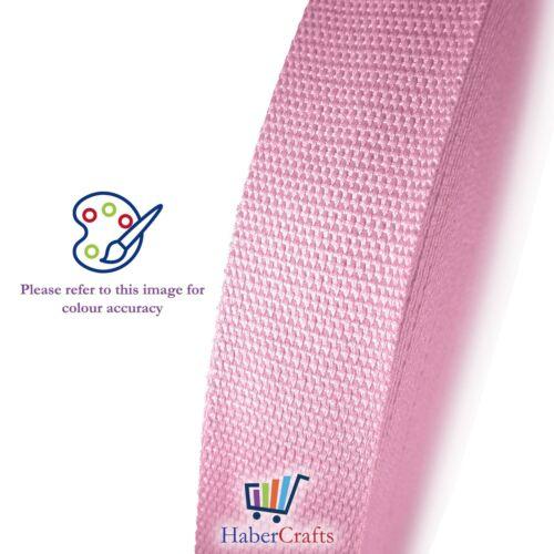 Luz Rosa 25mm cinta de algodón cinta de flejado 1 pulgadas correa de cinturón Bolsa haciendo Delantal