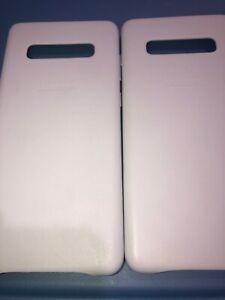 Lot-Of-2pc-Original-Samsung-Galaxy-S10-Plus-White-Case
