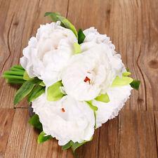 Bridal Hydrangea Wedding Home Decor Artifical Silk 5 Heads Peony Flower 1Bouquet