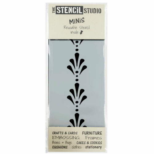 Dot /& Dash Pattern Border Stencil Stencil MiNiS Crafts /& DIY Stencils 10525