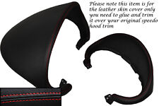 RED STITCH FITS AUDI TT MK2 06-13 SPEEDO GAUGE HOOD LEATHER COVER ONLY