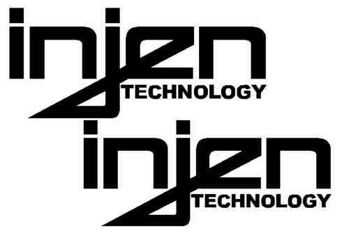 "set of 2 INJEN  decal sticker car truck racing rally 10/"""