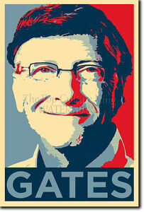 bill gates art photo print poster gift barack obama hope style ebay