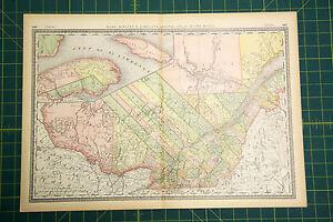 Quebec canada rare original vintage 1883 rand mcnally antique image is loading quebec canada rare original vintage 1883 rand mcnally gumiabroncs Images