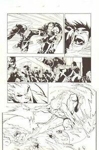 X-Men #194 P.14 - Awesome Iceman Action - 2007 Kunst Von Humberto Ramos
