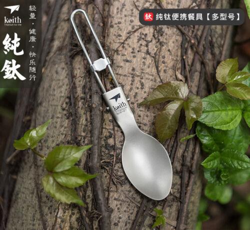 Outdoor Camp Picnic Multi-function Titanium Fork Spoon Bottle Opener Tableware