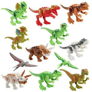 Lot 12pc Plastic Dinosaur Animal Tiny Model Action Figures Kids Toy Xmas Gift