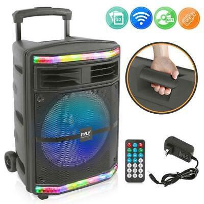 Pyle Pro Pphp1044b 10 Bluetooth Pa Speaker System With Flashing Party Lights 842893120393 Ebay