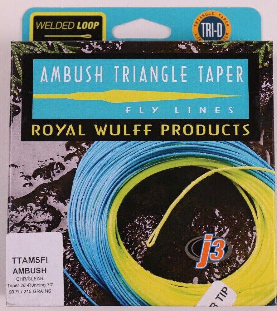 Royal Wulff Ambush Taper Clear Tip 5 Weight Fly Line Free Fast Shipping TTAM5FI