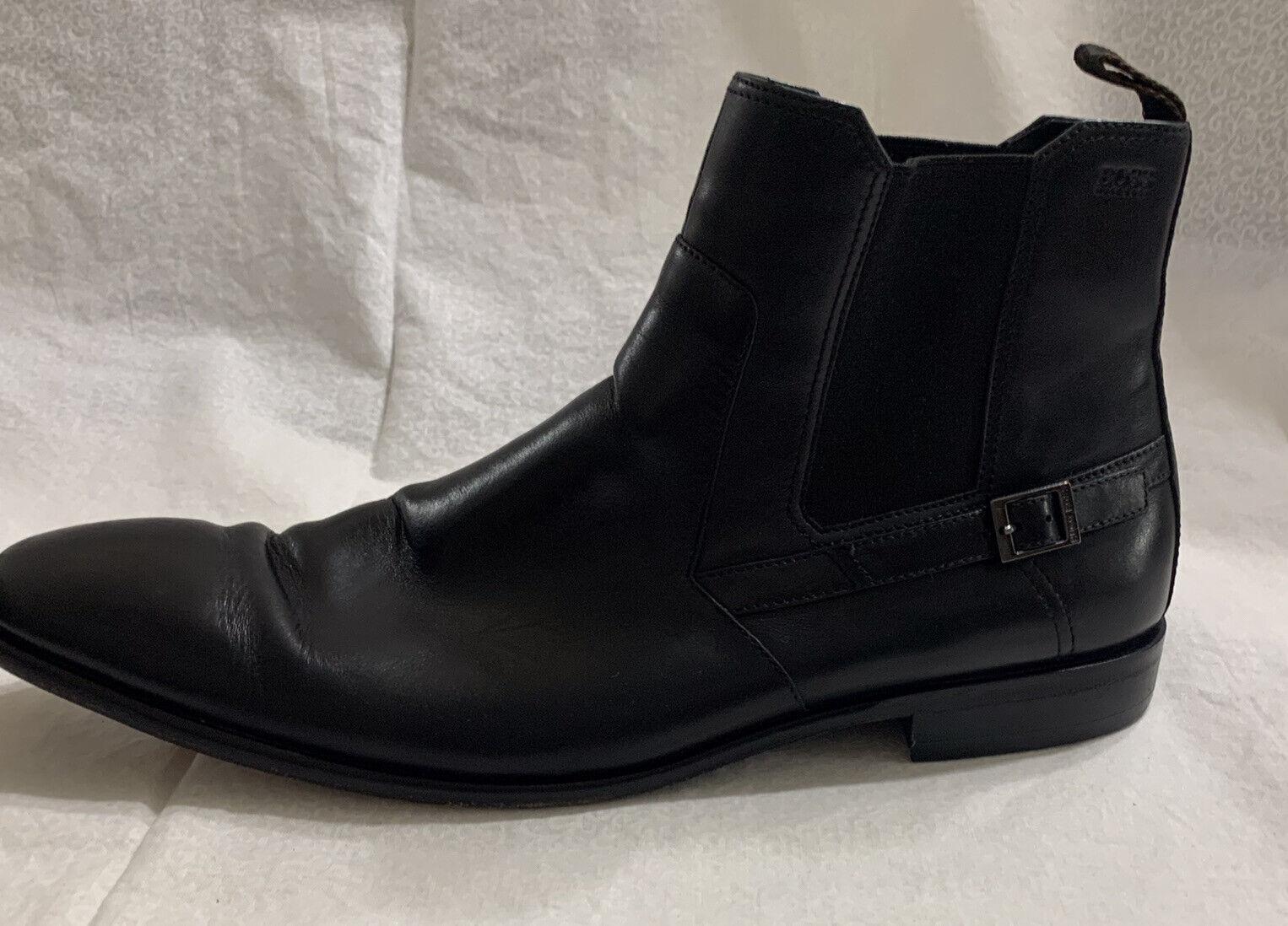 Hugo Boss Ankle Black Leather Ankle