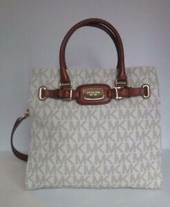 85a91757a85f NWT MICHAEL KORS Hamilton Large NS Signature PVC Tote Shoulder Bag ...