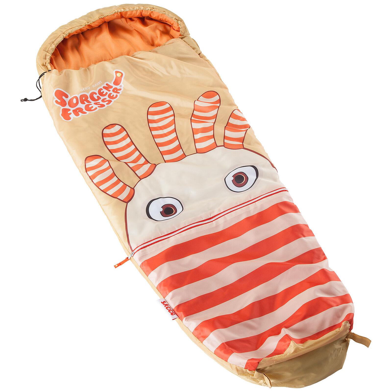 Skeika Sorgenfresser Saggo saco dormir niños 170 cm aranciabeig 12°C nuevo
