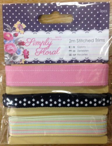 Papermania Ribbon Trim multi packs crochet stitched bellissima botanical ric rac