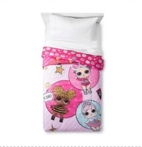 LOL-Surprise-Doll-Bedding-Reversible-Comforter-amp-3-Pc-Twin-Sheet-Set-Glitterful