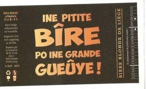 Anonyme-Ine-pitite-bire-po-ine-grande-gueuye-Etiquette-de-biere-Fond-noir