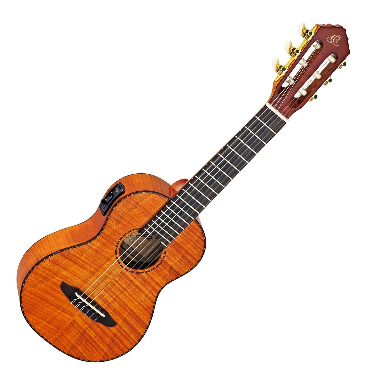 Spitzen Guitarlele von Ortega mit Tonabnehmer inkl. Gigbag aus Mahagoni Natur