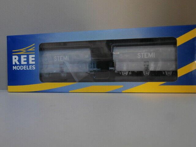 NEUF SNCF SET DEUX WAGONS COKE TROIS ESSIEUX STEMI OCEM Ep IV-V  REE Ref WB-011