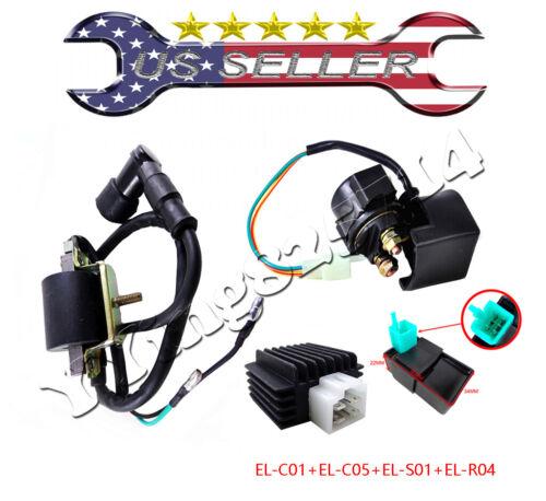 Regulator Rectifier Relay Ignition Coil CDI Chinese ATV Quad 50cc 70cc 90 110cc