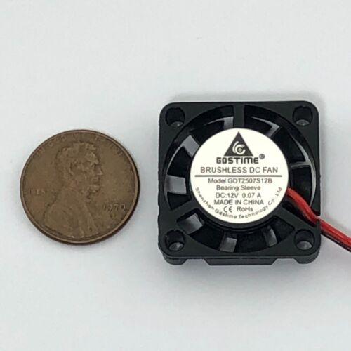 25mm 12V Cooling Fan 2507 25x25x7mm DC Mini Cooler Fan 2-Pin 2-Pack
