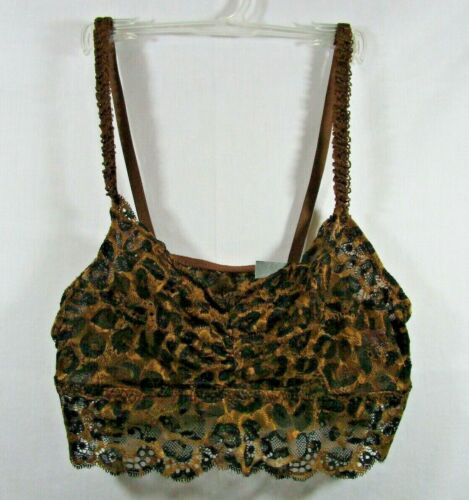 //////NWT YMI Juniors Size Large Animal Print Bralette Wire Free