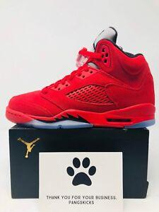 46a578e0c891c Nike Air Jordan 5 Retro  Red Suede  440888-602 GS Size 4Y-6Y