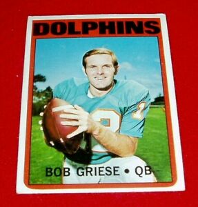1972-FOOTBALL-BOB-GRIESE-TOPPS-CARD-80-DOLPHINS-EX