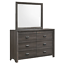 thumbnail 5 - NEW Gray 4PC Queen King Bedroom Set Modern Rustic Brown Furniture Bed/D/M/N