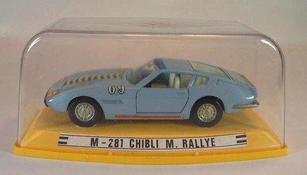 PILEN 1 43 Nº M 281 Maserati Ghibli Coupé Rallye bleu clair neuf dans sa boîte  047