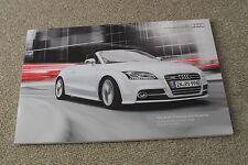 Audi TT & TTS Brochure 2010 1.8 TFSI 2.0 TDI Quattro Sport & S Line