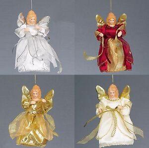 Premier-Navidad-15-2cm-Arbol-Top-Colgante-Angel-Decoracion-4-Colores