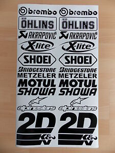 Details Zu Sponsoren Aufkleber Set 2x12 Stück Motorrad Auto 16cm Breit Sticker