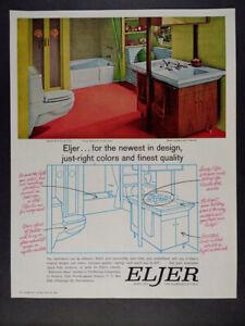 1964 Eljer Plumbing Fixtures mcm bathroom photo vintage