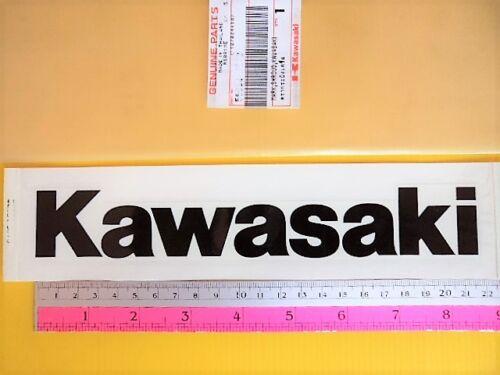 GENUINE KAWASAKI * Kawasaki Fairing Belly Pan Decal Sticker BLACK 220mm x 32mm