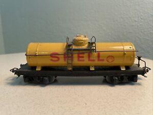 MARKLIN HO Vintage #334 SHELL Tank Car-RARE-All Metal