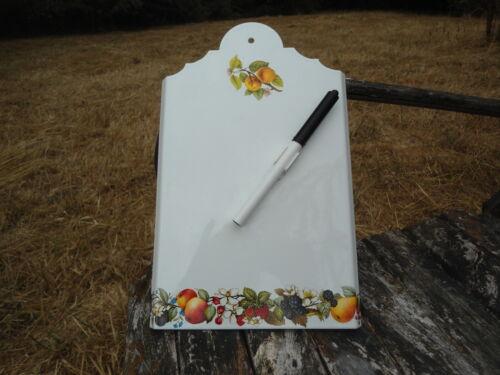 AIDE MEMOIRE MEMO EMAILLE Fruits EMAIL VERITABLE TRADITIONNEL 800° F EN FRANCE