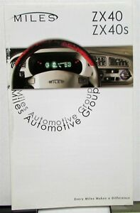 Details about 2004-2010 Miles ZX 40 S All Electric Low Speed Vehicles  Dealer Sales Brochure