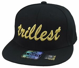 custom made stylish cool black gold trillest hat snapback