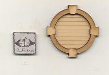 Window -  Gable Vent - 2160 wood dollhouse miniature 1:12 scale USA made
