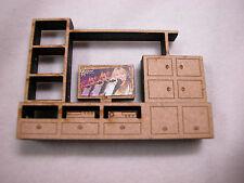 "Dollhouse Miniature 1/4"" Scale Entertainment TV Media Center  2.25""x1.5 ""  #Z291"