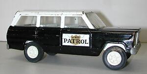 Vintage TONKA 1960's Steel Highway Patrol Jeep Toy Car