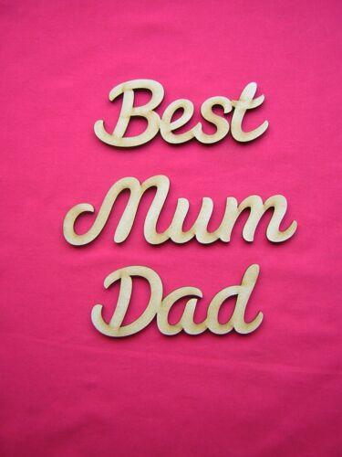 grande Corte Láser Mdf palabra-Mejor Papá Mamá
